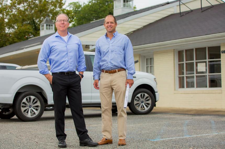 Steve Barrs and Steve Spain Tidemill Shops Before Pic