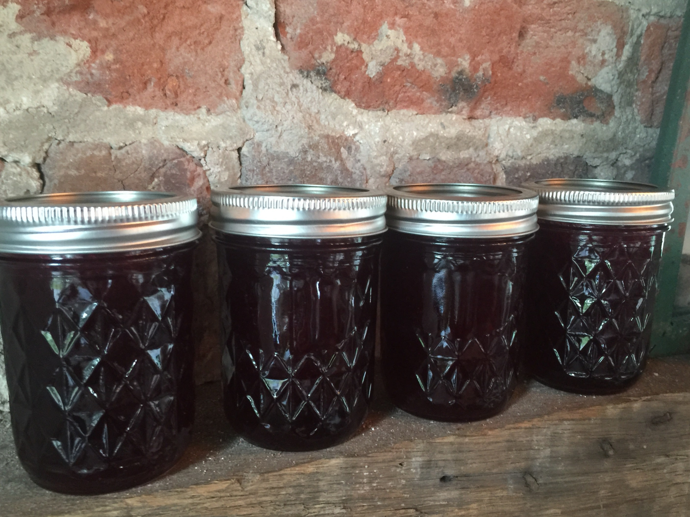 Blackberry Jam Jars from Little England Farm in Gloucester Virginia-min